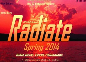 Radiate Spring 2014 Schedule web